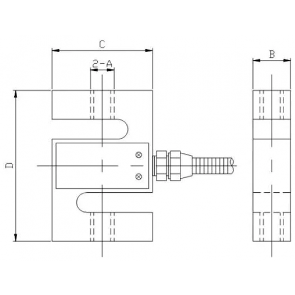 S type load cell dimensions