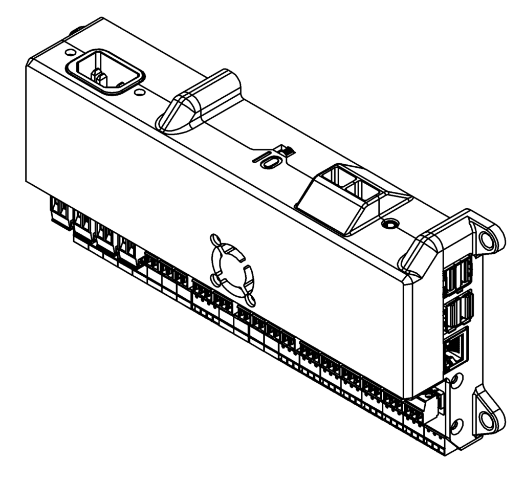 BD1 Dynamometer Controller technical drawing isometric