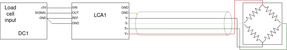 Load cell amplifier wiring diagram